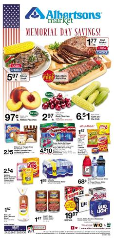 Memorial Day Albertsons Ad May 24 - 30 2017