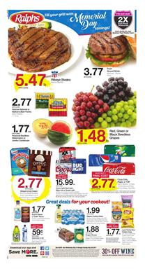 Memorial Day Savings Ralphs Ad May 24 - 30 2017