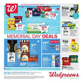 Memorial Day Walgreens Weekly Ad May 28 - Jun 3 2017