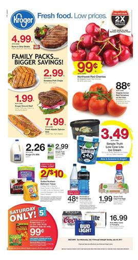 Kroger Weekly Ad Deals July 19 - 25 2017