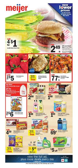 Meijer Weekly Ad Deals July 9 15 2017