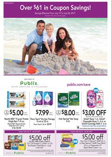 Publix Extra Savings Ad Coupons July 15 - 28 2017