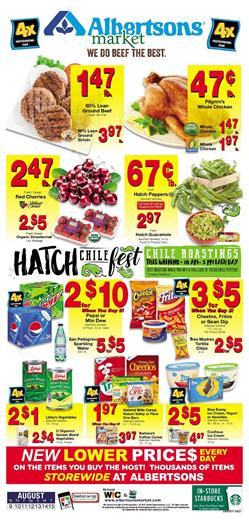 Albertsons Weekly Ad Food August 9 - 15 2017