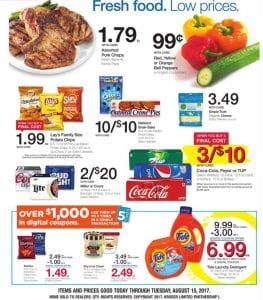 Kroger 4 Day Sale Ad August 10 - 13 2017 2