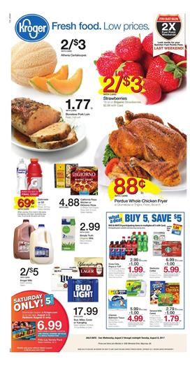 Kroger Weekly Ad Grocery Aug 2 - 8 2017