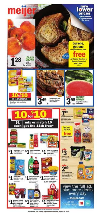 Meijer Weekly Ad Grocery August 13 - 19 2017