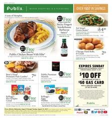 Publix Weekly Ad Grocery August 9 - 15 2017