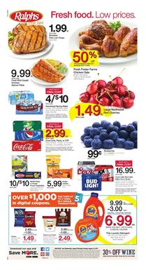 Ralphs Weekly Ad Food August 9 - 15 2017