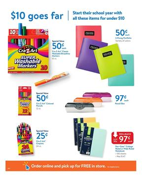 Walmart Ad School Supplies Aug 13 - 31 2017