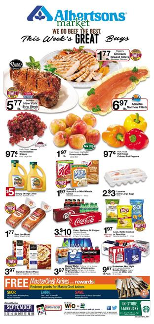 Albertsons Weekly Ad Deals Sep 13 - 19 2017
