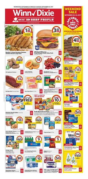 Dixie Weekly Ad Deals Sep 20 26 2017