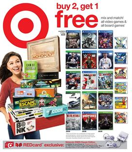 Target Ad Entertainment Deals Oct 29 - Nov 4, 2017