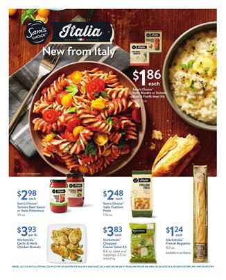 Walmart Ad Italian Food Oct 15 - Nov 2, 2017