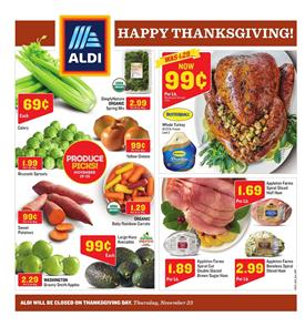 Aldi Weekly Ad Thanksgiving Deals November 19 25 2017