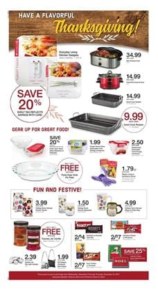 Kroger Ad Thanksgiving Deals Nov 8 - 14, 2017