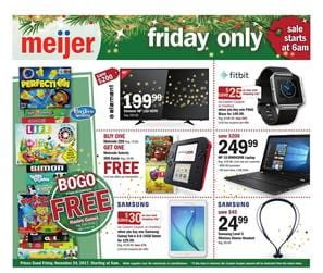 Meijer Ad Black Friday Electronics Nov 24, 2017