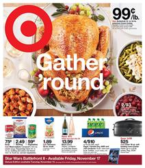 Target Ad Thanksgiving Food Nov 12 - 18, 2017