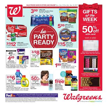Walgreens Weekly Ad Snack Nov 12 - 18, 2017