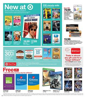 Target Weekly Ad Gifts Dec 31 - Jan 6, 2018