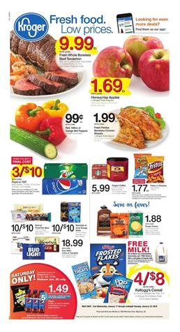 Kroger Weekly Ad Deals January 17 - 23, 2018