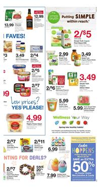 Ralphs Ad Simple Truth Organic Products