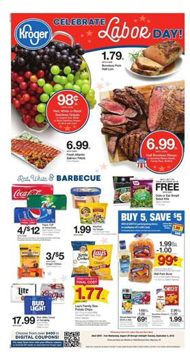 Kroger Ad Labor Day Sale Aug 29 Sep 4 2018