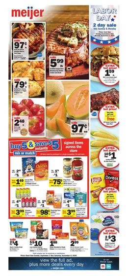 Meijer weekly ad sep 16 22 2018 grocery mix or match sale buy 5 save 5 meat and true goodness organic products are the cover page deals bogo 50 off meijer shrimp angus beef bottom fandeluxe Choice Image