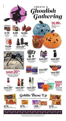 the final page of the latest kroger ad has a good decoration and accessories sale 20 price drop on most things in this range