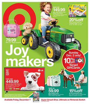 Target Weekly Ad Holiday Toy Sale Dec 2
