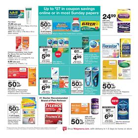 See our list of tips on how to save at Walgreens. Get $10 Walgreens Cash for every 10, points with Balance Rewards; Free Blood Pressure Test for anyone; Buy your photo gifts weeks before the holidays to get the most savings.