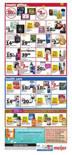 Meijer Christmas Eve Hours.Meijer Weekly Ad Holiday Gifts Dec 16 24 2018 Beauty