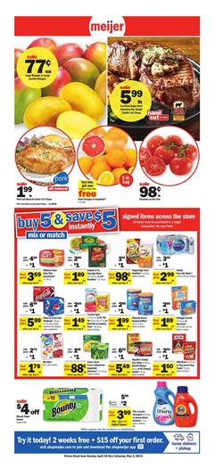 4731f7547711 Mix or match sale covers many food products from various categories and you  can also find household supplies or other non-food products. Browse the  Meijer ...