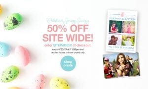 3a9cea403d5 Easter is a happy time of the year to celebrate with photo gifts and Target  photo services are on sale. Target offers 50% off sitewide discount.