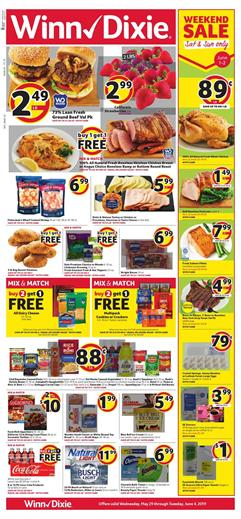 BOGOs Weekend Sale And Mix Match Are The Types Of Discounts In Winn Dixie Weekly Ad May 29