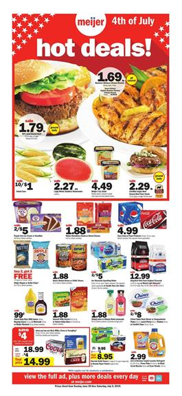 Meijer Weekly Ad Deals Jun 30 Jul 6 2019