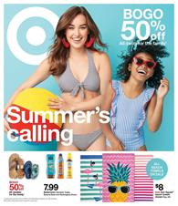 3e2d12f3c9 Buy summer products for kids, ladies, and use the BOGO deals to save on  everything. Sandals are available on pg 6. You can go to Target Ad ...