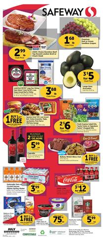 Safeway Weekly Ad Grocery Sale Jul 10 - 16, 2019