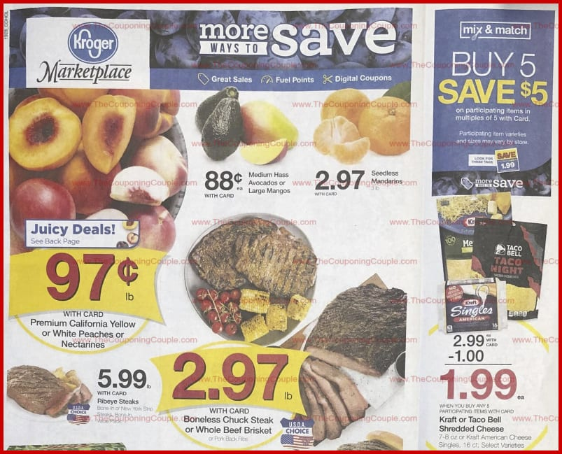 Kroger Weekly Ad Aug 21 27 2019 Grocery Sales Coupons Previews