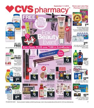 CVS Weekly Ad 9/15 - 9/21 2019 | Extrabucks and Coupons