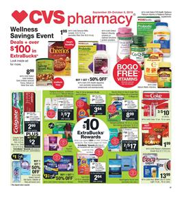 Cvs Pharmacy Deals Sep 29 Oct 5 2019 Weekly Ad