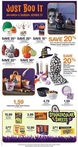 Kroger Christmas Hours 2019.Kroger Weekly Ad Oct 9 15 2019 Grocery Coupons Previews