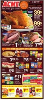 Acme Weekly Ad Thanksgiving Deals Nov 22 - 28, 2019