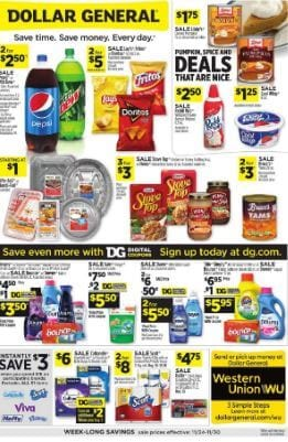Dollar General Ad Preview Nov 24 - 30, 2019