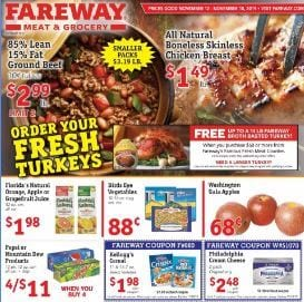 Fareway Ad Thanksgiving Food Ideas Nov 2019