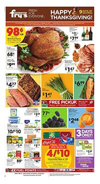 Fry's Weekly Ad Thanksgiving Deals Nov 20 - 28, 2019