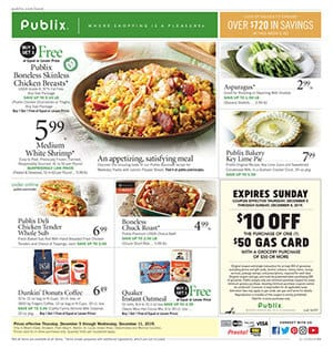 Publix Ad Grocery Sale Dec 5 - 11, 2019