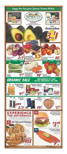 Sprouts Ad Organic Sale Jan 1 8 2020