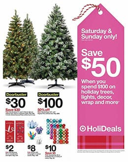Target Christmas Trees Black Friday Doorbusters