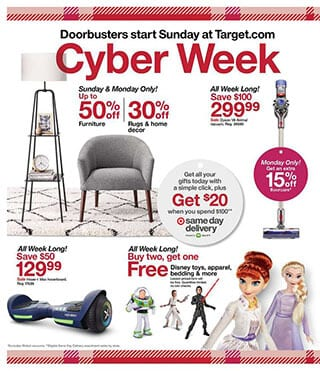 Target Cyber Monday Sale 2019