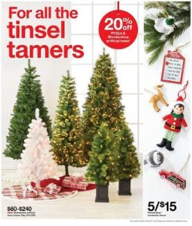 Target Weekly Ad Christmas Trees Nov 2019